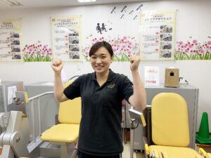 ラグビー選手を引退しオンズのリハトレ専科で働く東福です