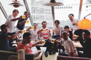 RKC「流通経済大学/流通経済大学附属柏高校OB・OG会」メンバーでラグビーワールドカップをライブビューイング応援しました。