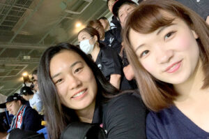 ラグビーワールドカップの試合「イングランド対ニュージーランド」を前女子日本代表の江渕まこと選手と観戦しました